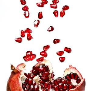 Ripe Pomegranate fruit, opened